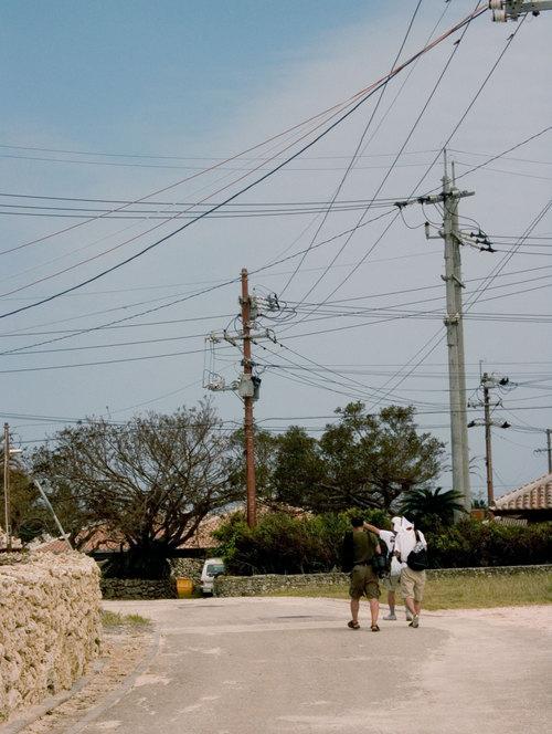 竹富の電線