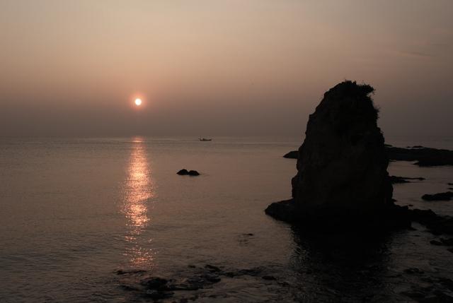 三浦半島西海岸の夕日・その1