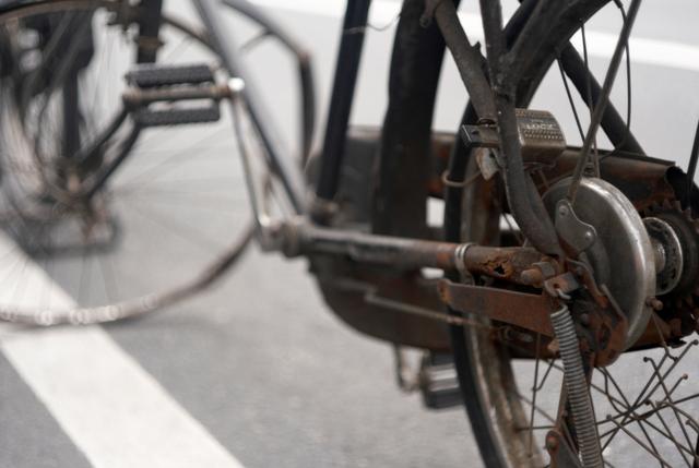 働きすぎた自転車