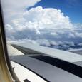 機上から見る雲