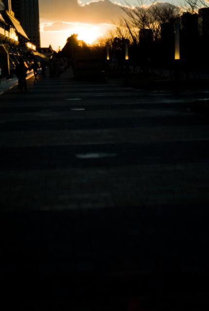 有明の夕日・その2