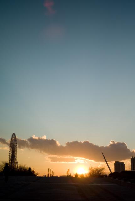 有明の夕日・その4