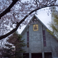 若宮大路から見える教会
