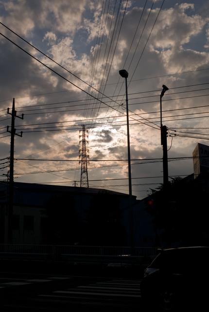 246の夕日